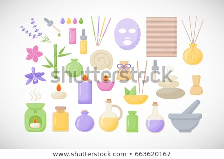 hot stones and essential oil stock photo © jamesS