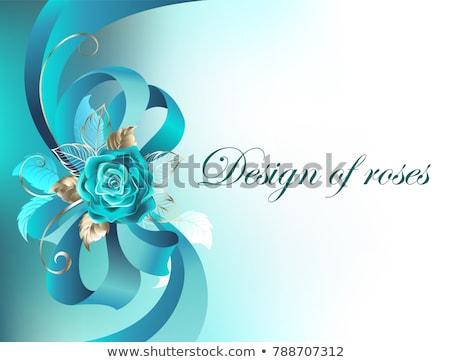 Acht turkoois rozen aantal witte goud Stockfoto © blackmoon979
