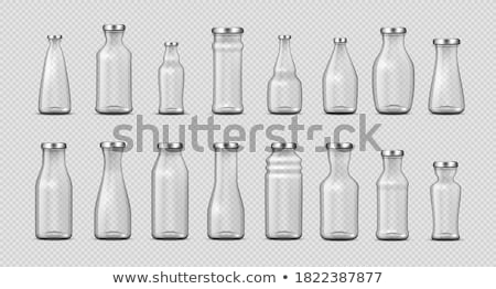 Glass Jars Collection In Different Form Set Vector Stock photo © pikepicture