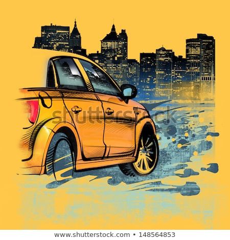 Watercolor Yellow Cabs NYC Stock photo © unkreatives