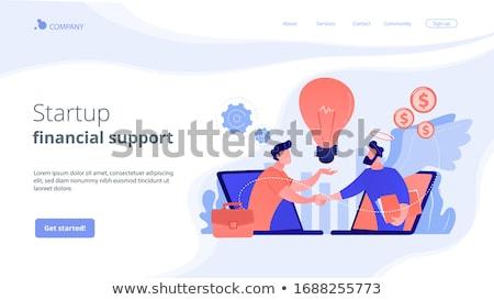 Engel landing pagina ondernemerschap initiatief Stockfoto © RAStudio