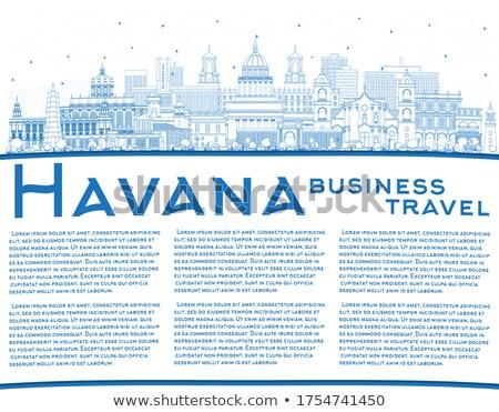 Hawana panoramę niebieski budynku kopia przestrzeń Zdjęcia stock © ShustrikS