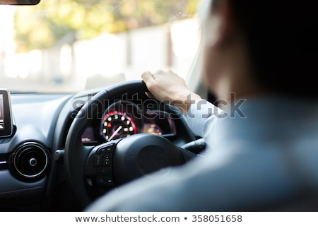Man Drive Vehicle, Interior of Car, Guy on Trip Stock photo © robuart