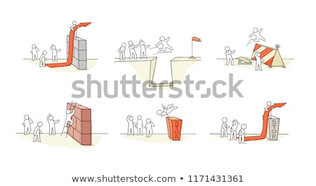 Teamwork and Overcoming Obstacles Business Set Stock photo © robuart