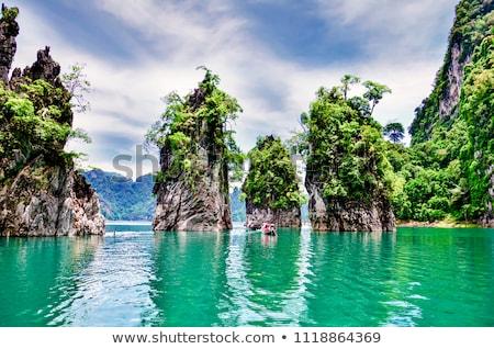 Lan meer Thailand houten thai traditioneel Stockfoto © bloodua