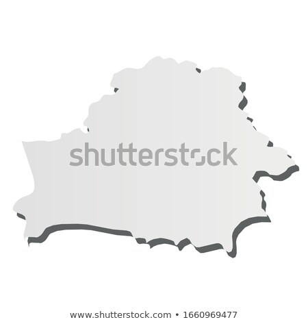Belarus country map, simple black silhouette on gray Stock photo © evgeny89