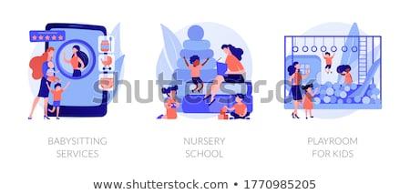 услугами аннотация няня приложение личные Сток-фото © RAStudio