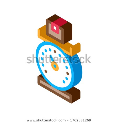 Weight of Delivery Postal Transportation Company isometric icon vector illustration Stock photo © pikepicture