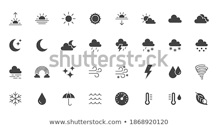 Hail Sun And Cloud Icon Weather Glyph Vector Illustration Stok fotoğraf © Nadiinko