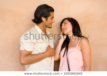 young pair embraces and laughs loudly Stock photo © Paha_L