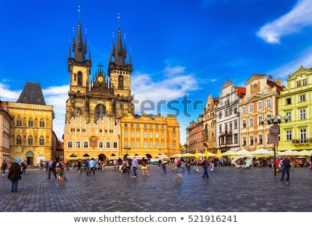 Kerkarchitectuur Praag historisch Tsjechische Republiek kerk architectuur Stockfoto © rognar