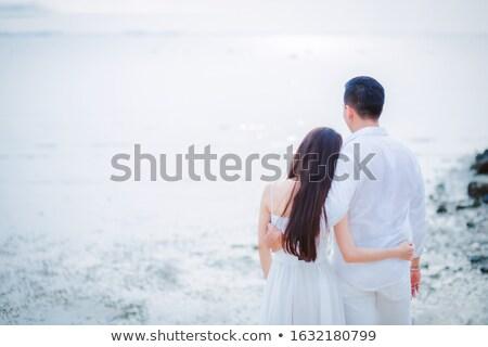 Casal romântico praia menina sensual Foto stock © photography33