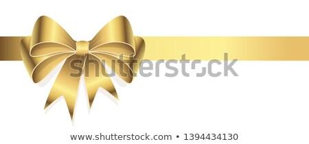 décoratif · arc · eps · 10 · jaune · ruban - photo stock © kristyna