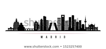 силуэта Мадрид испанский флаг путешествия стране история Сток-фото © perysty