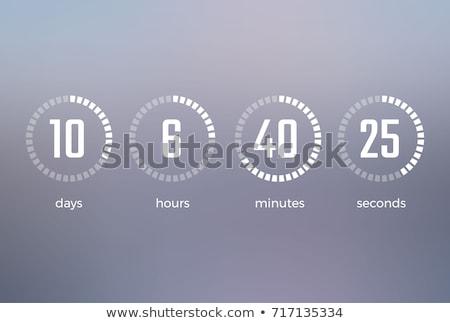 Stopperóra piros szett fehér óra háttér Stock fotó © tashatuvango