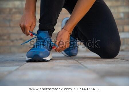 kız · ayakkabı · güzel · çok · beyaz · kadın - stok fotoğraf © kalozzolak