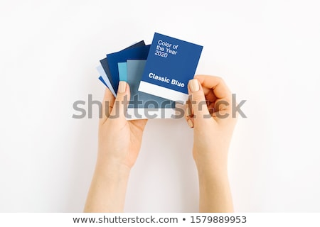 female hands holding paint color swatches Stock photo © inxti