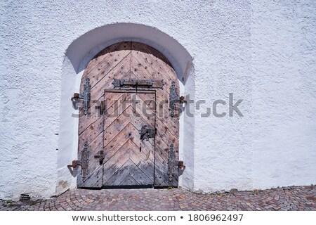 Wooden Church Ancient Door. Antique Retro Archway and Doorway Stock photo © gromovataya