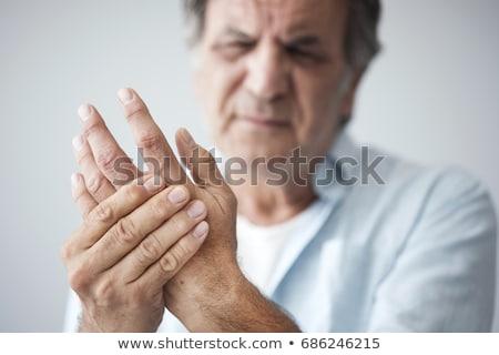 Mão dor mão humana pulso esportes túnel Foto stock © Lightsource