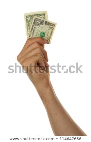uomo · uno · dollaro · bill · mano - foto d'archivio © michaklootwijk