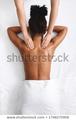 Mulher pescoço branco mão Foto stock © wavebreak_media