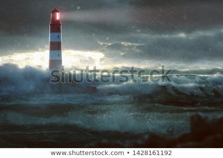 világítótorony · naplemente · Franciaország · természet · tájkép · háttér - stock fotó © smithore