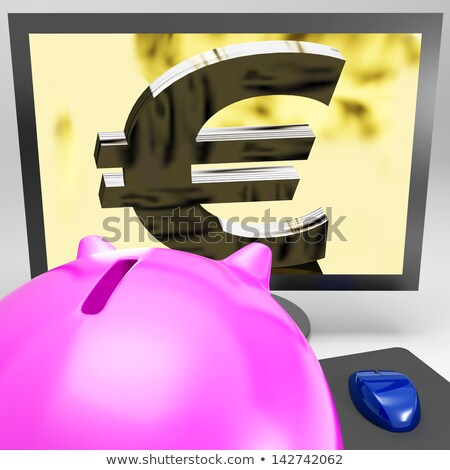 Euro Symbol Screen Shows Currency In Europe Stock photo © stuartmiles