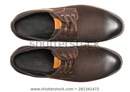 kahverengi · ayakkabı · yalıtılmış · beyaz · kız · arka · plan - stok fotoğraf © ruslanomega