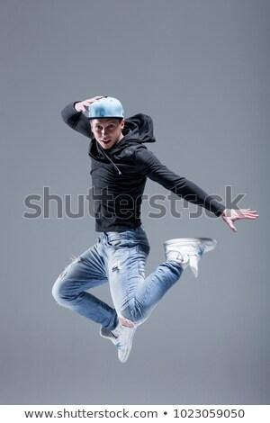 Moderno homem dançarina posando branco dança Foto stock © stepstock