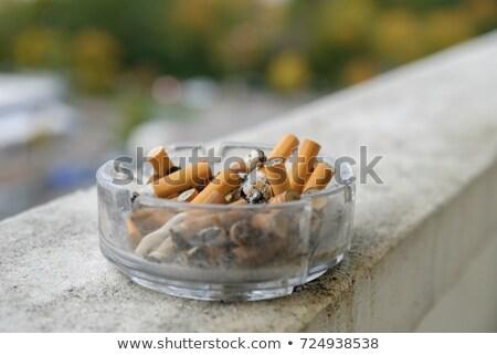 Cigaretta szivar veszély szemét koszos rák Stock fotó © oscarcwilliams