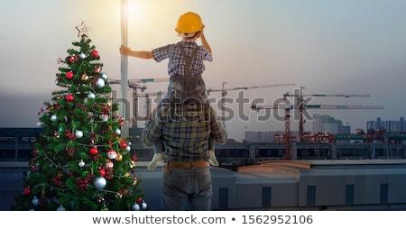 Сток-фото: рождественская · елка · красный · Hat
