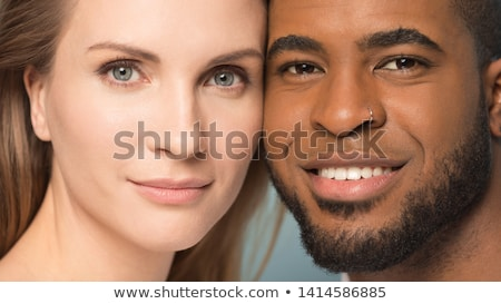 fashion couple with woman touching man's face Stock photo © feedough