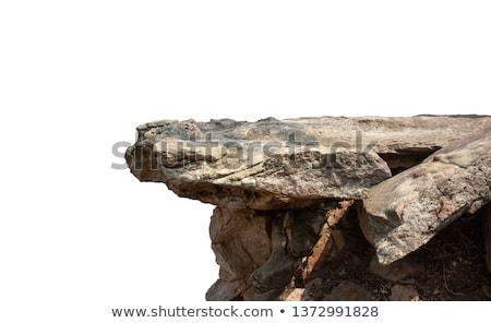 ストックフォト: 崖 · 巨大な · ビーチ · 青 · 砂 · 岩