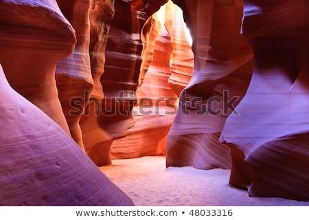Canyon Arizona grond pagina licht zon Stockfoto © lunamarina