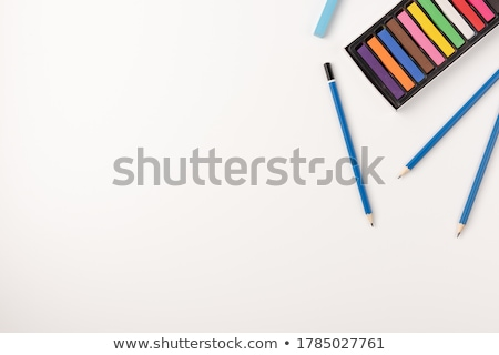 Colored pencils on white background stock photo © albertdw