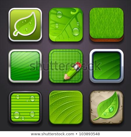 zielone · trawy · ikona · ilustracja · odizolowany - zdjęcia stock © cidepix