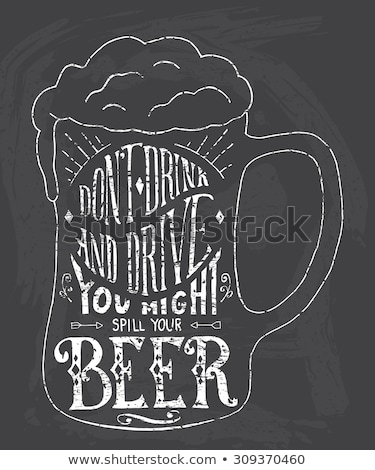Don't Drink And Drive Chalk Illustration Stock photo © kbuntu