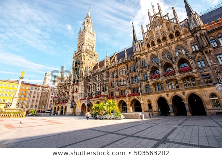 old town hall and marienplatz in the morning munich bavaria g stock photo © anshar