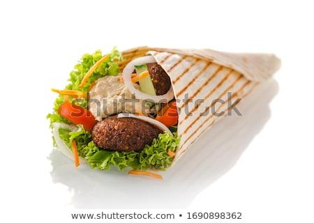 Tortilla sağlıklı plaka sebze yemek Stok fotoğraf © jeliva