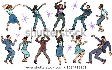 Zakenman dansen jonge witte dans Stockfoto © filipw