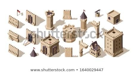 Facade of a medieval building Stock photo © alessandro0770