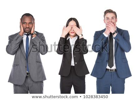 Stock photo: businesswoman - speak no evil