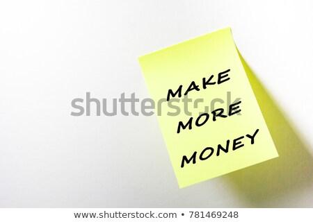 Más dinero para hacer la lista mano escrito Foto stock © ivelin