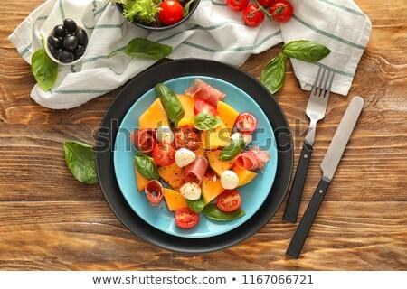サラダ · プロシュート · 食品 · 油 · ボール · ディナー - ストックフォト © M-studio