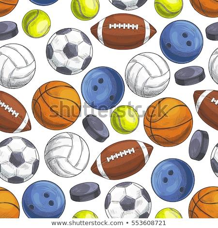 Sketch basketball ball, vector seamless pattern Stock photo © kali