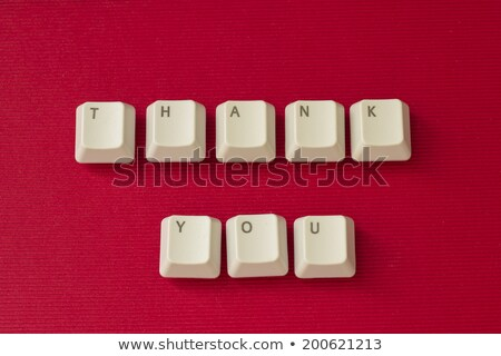 computer keyboard with typographic thank you button stock photo © vinnstock