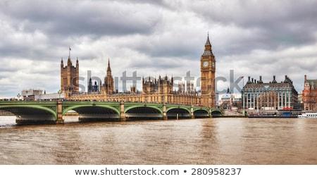 Stok fotoğraf: Tower · Bridge · panoramik · Londra · büyük · britanya · Büyük · Britanya · gece