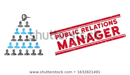 Public Relations pyramid illustration Stock photo © fuzzbones0