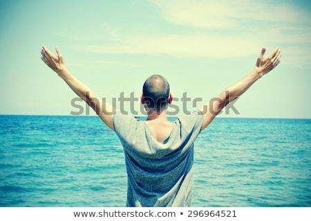 男 腕 空気 海 若い男 ストックフォト © nito