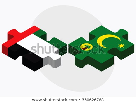 Объединенные Арабские Эмираты флагами головоломки изолированный белый Сток-фото © Istanbul2009
